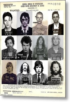 Rock And Roll's Most Wanted - Part II Metal Print by Lee Dos Santos