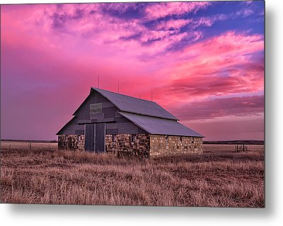 Rock Barn Metal Print by Thomas Zimmerman