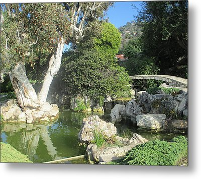Stone Bridge Pond Metal Print