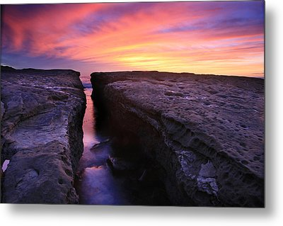 Rock Channel Sunset Metal Print