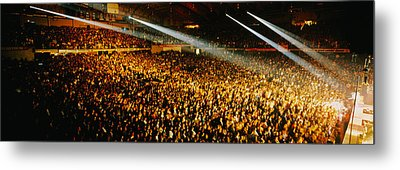 Rock Concert Interior Chicago Il Usa Metal Print by Panoramic Images