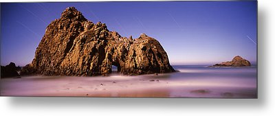 Rock Formation On The Beach, One Hour Metal Print by Panoramic Images