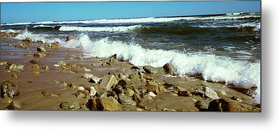Rock Formations At The Coast, Montauk Metal Print by Panoramic Images