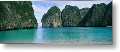 Rock Formations In The Ocean, Mahya Metal Print by Panoramic Images