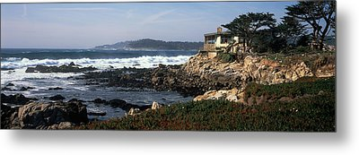 Rock Formations In The Sea, Carmel Metal Print by Panoramic Images
