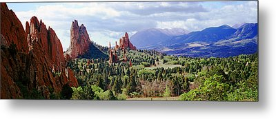 Rock Formations On A Landscape, Garden Metal Print