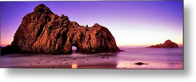 Rock Formations On The Beach, Pfeiffer Metal Print by Panoramic Images