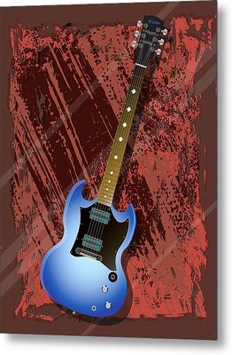 Rock Guitar Metal Print