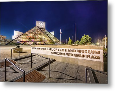 Rock Hall Plaza Metal Print by Brent Durken