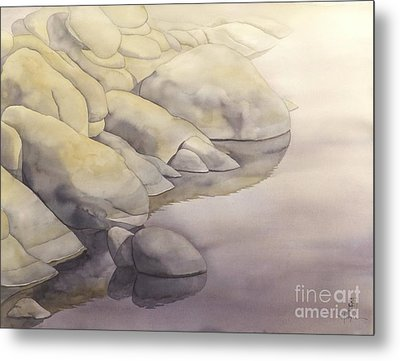 Rock Meets Water Metal Print by Robert Hooper