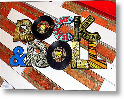 Rock N Roll Is Here To Stay Metal Print by Kathy  White