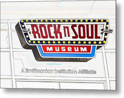 Rock N Soul Museum Memphis Metal Print