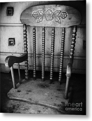Rock No More Chair Metal Print