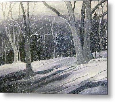Rock Ridge Snowscene Metal Print