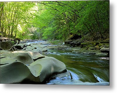 Rock Run #1 - Loyalsock State Forest Metal Print