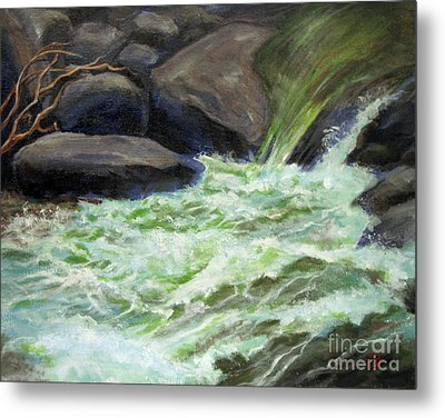 Rock Splash Metal Print