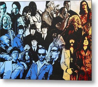Rock Triptych - Panel B Metal Print by Bobby Zeik