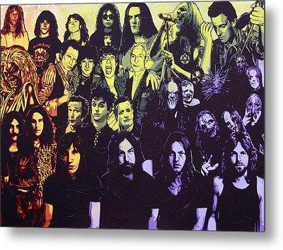 Rock Triptych - Panel C Metal Print by Bobby Zeik