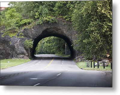 Rock Tunnel On Kelly Drive Metal Print by Bill Cannon