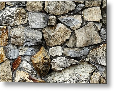 Rock Wall  Metal Print by Les Cunliffe