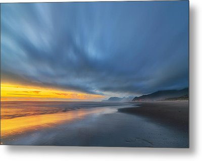 Rockaway Sunset Bliss Metal Print