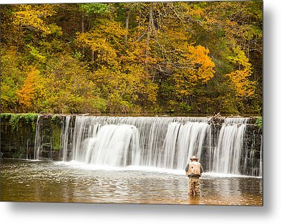 Metal Print featuring the photograph Rockbridge Fisherman by Steven Bateson