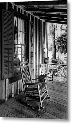 Rocker On The Veranda Metal Print by Lynn Palmer
