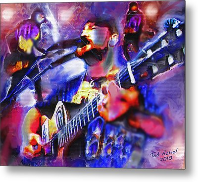 Metal Print featuring the painting Rocker by Ted Azriel