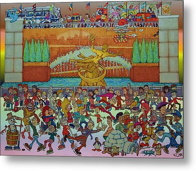 Rockerfeller Center Stage Metal Print by Paul Calabrese