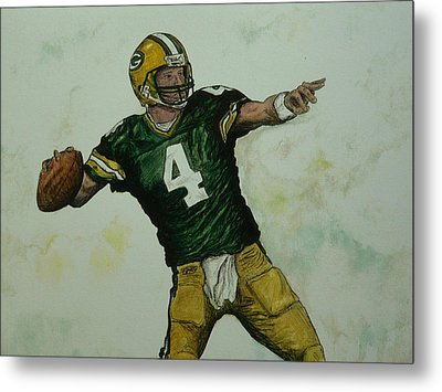 Rocket Favre Metal Print
