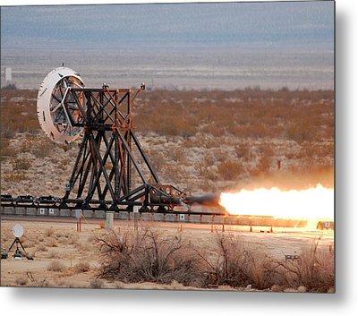 Rocket-sled Test Metal Print by Nasa