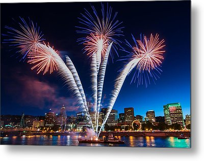 Metal Print featuring the photograph Rockets Red Glare by Brian Bonham