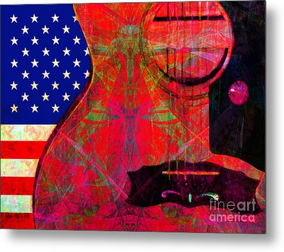 Rockin Usa 20140716 V2 M28 Metal Print by Wingsdomain Art and Photography