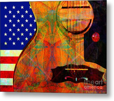 Rockin Usa 20140716 V2 Metal Print by Wingsdomain Art and Photography