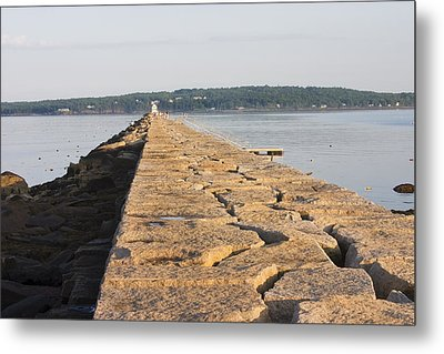 Rockland Breakwater Lighthouse Coast Of Maine Metal Print by Keith Webber Jr