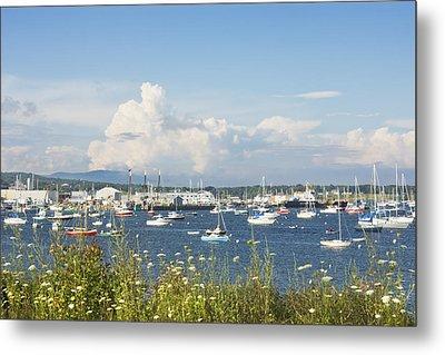 Rockland Harbor On The Coast Of Maine Metal Print