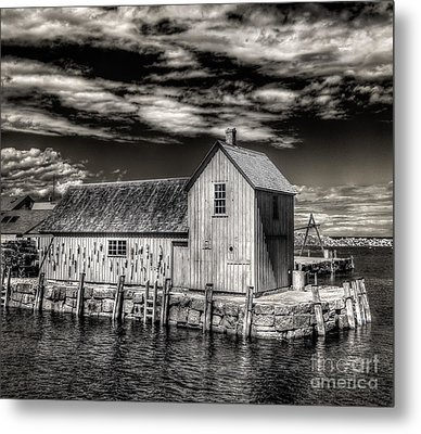 Metal Print featuring the photograph Rockport Harbor by Steve Zimic