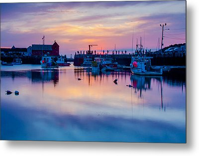 Rockport Harbor Sunrise Over Motif #1 Metal Print by Jeff Folger