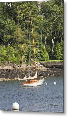 Rockport Maine Sailboat Metal Print by Keith Webber Jr