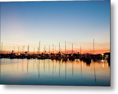 Rockport, Texas Harbor At Sunset Metal Print by Larry Ditto
