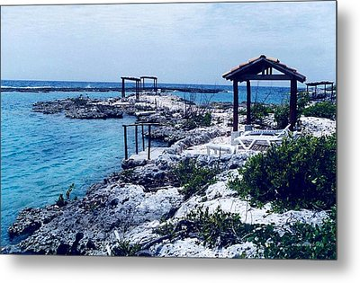 Rocks And Water Always Together Metal Print by Mario Perez