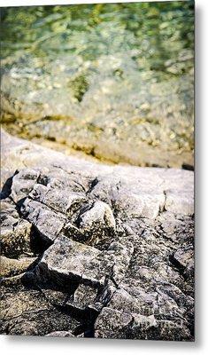 Rocks At Georgian Bay Metal Print by Elena Elisseeva
