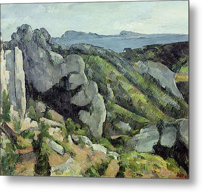 Rocks At Lestaque, 1879-82 Oil On Canvas Metal Print by Paul Cezanne