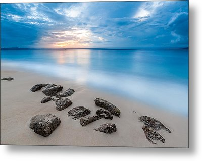 Metal Print featuring the photograph Rocks By The Sea by Mihai Andritoiu