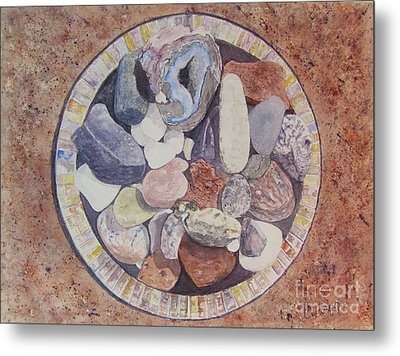 Metal Print featuring the painting Rocks by Carol Flagg