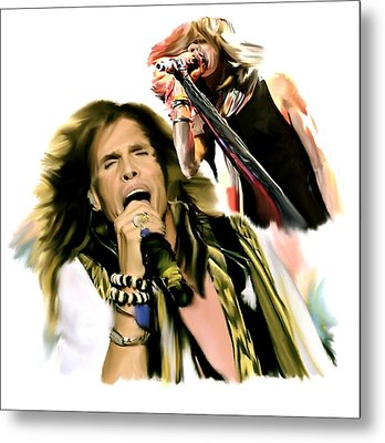 Rocks Gothic Lion II  Steven Tyler Metal Print by Iconic Images Art Gallery David Pucciarelli