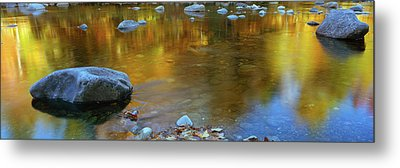 Rocks In A Shallow Stream Metal Print by Panoramic Images
