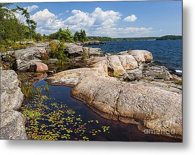 Rocks On Georgian Bay Shore Metal Print by Elena Elisseeva