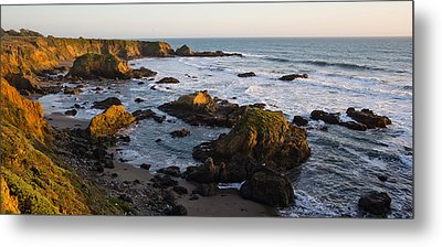 Rocks On The Coast, Cambria, San Luis Metal Print by Panoramic Images