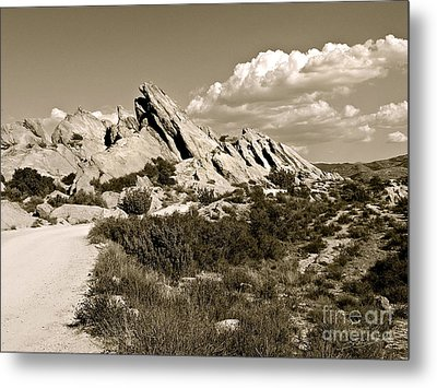 Rocks On Warm Wind Metal Print by Gem S Visionary